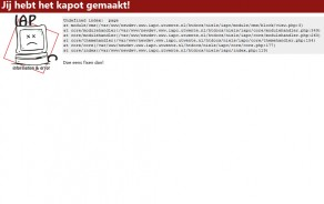 Website: IAPC Error pagina